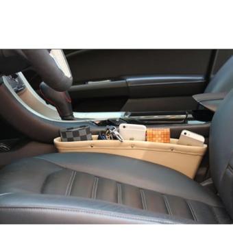Khay để đồ khe ghế da cho ô tô (Be)