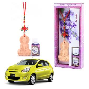 Đá thơm khuếch tán tinh dầu oải hương Ecolife treo xe ô tô hình phật khử mùi giảm stress hiệu quả