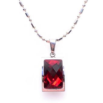 Dây chuyền mặt đá Garnet may mắn THE OXFORD 6720 (Đỏ)