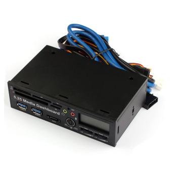 5.25 USB 3.0 High Speed Media Dashboard Front Panel PC Multi Card Reader (Black)