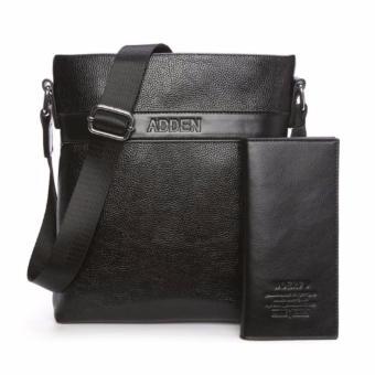 Bộ đôi túi đeo chéo thời trang dành cho nam ADDEN (đen) ví cầm tay đen