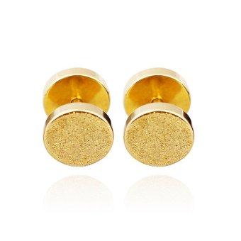 Bộ 2 bông tai hình tròn mạ cát BT73 (Vàng)