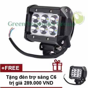 Đèn led trợ sáng xe máy phượt c6 GNG + Tặng đèn c6