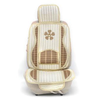 Bộ Lót ghế len kiểu cao cấp cho ô tô Auto Quoc Te CROWN-07 (Kem)