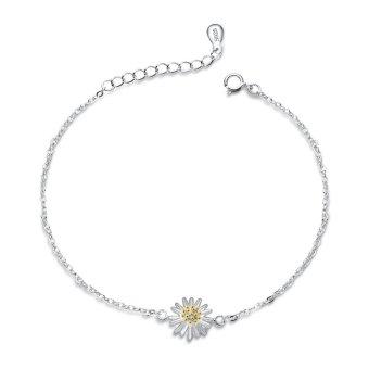 Lắc tay hoa cúc xinh xắn bạc S925