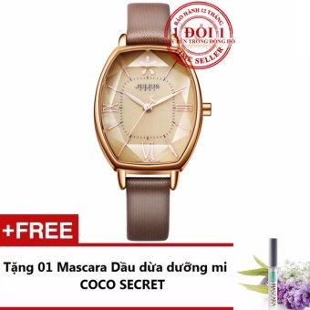 Đồng hồ nữ dây da Julius JA920 2017 (Nâu) + Tặng kèm Mascara Dầu dừa Dưỡng mi Coco Secret