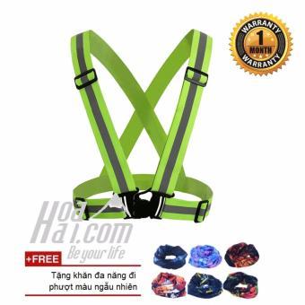 Áo dây phản quang đi phượt cao cấp HOAHAI.COM + Tặng khăn phượt đa năng