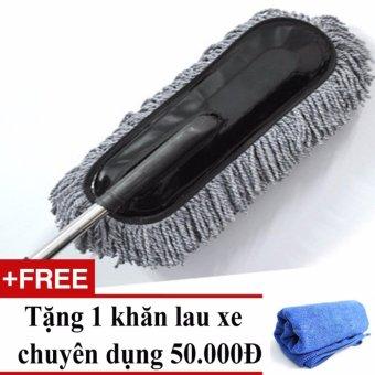 Chổi lau nano cho ô tô siêu mịn + Tặng 01 khăn lau xe chuyên dụng