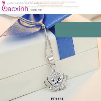 Mặt dây chuyền nữ trang sức bạc Ý S925 Bạc Xinh - Vương miện đẹp PP1151