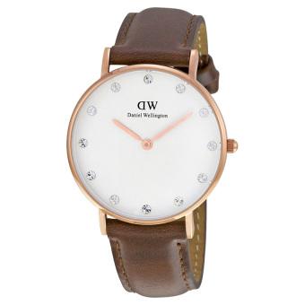 Đồng hồ nữ dây da Daniel Wellington 0950DW (Nâu).