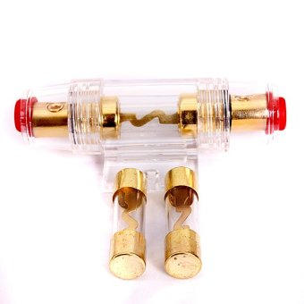 Gauge AGU Fuse Holder with 2X40amp In Line Glass Fuses - Intl