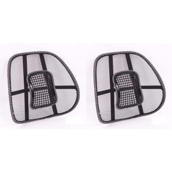 Bộ 2 tấm lưới đệm massage tựa lưng ghế oto và văn phòng chống nóng, giảm đau mỏi