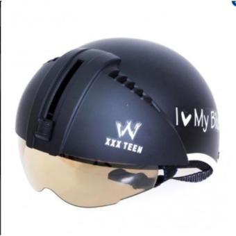 Mũ bảo hiểm kính âm kiểu Thái (Xanh)