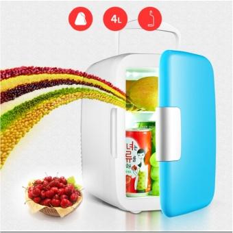 Tủ lạnh mini hộ gia đình và xe hơi 4 Lít (Xanh)