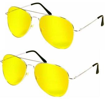 Bộ 2 kính mắt vàng nhìn đêm PA102 (Vàng)