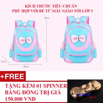 Ba lô cặp sách dành cho bé gái tiều học kiểu hiện đại Hàn Quốc + Tặng kèm 01 con quay Spinner cao cấp