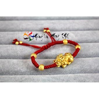 Vòng phong thủy mắt hổ mạ vàng gemstoner HL0033