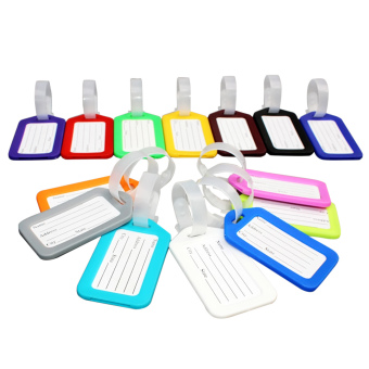 10 PCS Travel Accessories Luggage Hang Tag Identifier with Name Card Random Color