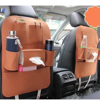 Bộ 2 yếm sau ghế xe hơi các loại vật dụng tiện lợi BT99.89 (Nâu bò)