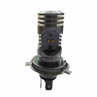 bóng đèn led 3 chân H4/L9E kiểu pittong gắn xe máy Hv shop ( sáng trắng)