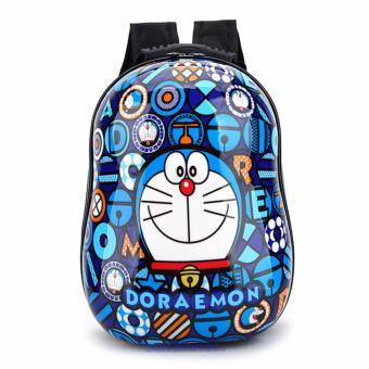 Ba lô nhựa xinh xắn dành cho trẻ em - Doremon (Xanh)