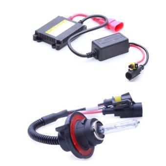 Bộ đèn xenon HID H13 pha cos xe ô tô 35W 6000K (Trắng)