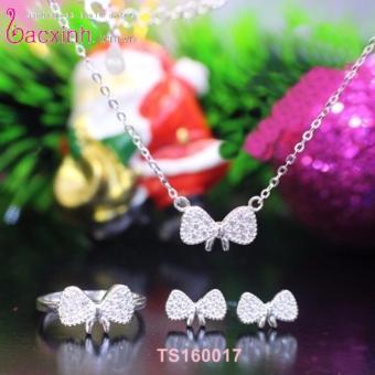 Nhẫn nữ trang sức bạc Ý S925 Bạc Xinh - Nơ xinh TS160017J