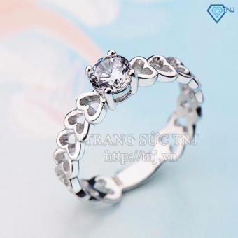 Nhẫn bạc nữ họa tiết trái tim NN0102 - Trang Sức TNJ