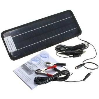 Portable Solar Panel Power Battery Charger Backup For Car Boat Automobile 12V 4.5W NEW - intl