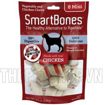 Bánh gặm SmartBones Mini nhân thịt gà 8 cái