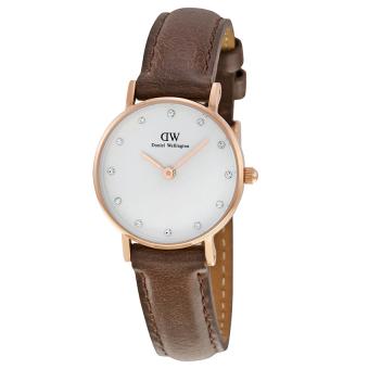 Đồng hồ nữ dây da Daniel Wellington 0903DW (Nâu).