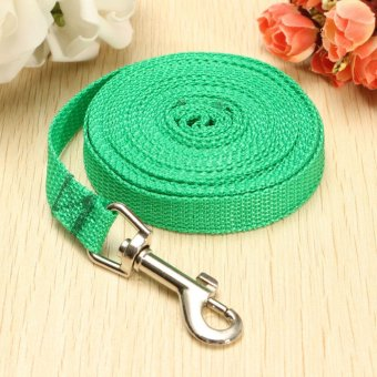5M Long Dog Pet Puppy Nylon Harness Training Rope Obedience Collar Lead Leash Green - intl