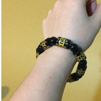 vòng tay đá phong thủy anmani , đen