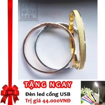 Vòng Tay Tình Yêu Mạ Vàng Kim Cao Cấp 18K-GOLD (F62) + Tặng đèn LED cổng USB