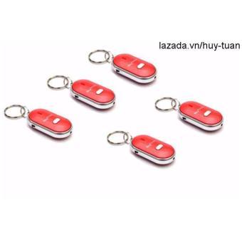 Combo 5 móc khóa huýt sáo thông minh ( Đỏ )