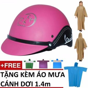 Bộ mũ bảo hiểm thời trang + áo đi mua cánh dơi chuẩn 1.4m