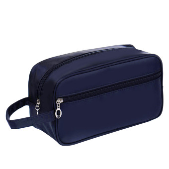 Portable Waterproof Big Capacity Travel Toiletry Bag Wash Shaving Bag Makeup Grooming Toilet Bag Dark Blue