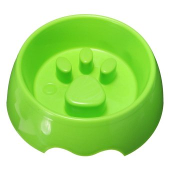 Non Slip Puppy Dog Cat Pet Slow Anti Slip Feeder Dish Feeding Food Bowl Water S - intl