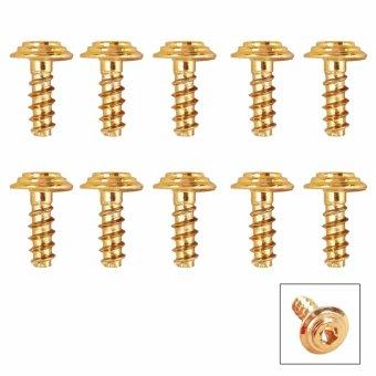 Bộ 10 ốc vít dàn áo xi vàng kiểu Vương Miện - Lục Giác (5x15mm)