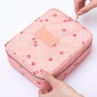 Túi đựng mỹ phẩm cherry nhìu ngăn chống thấm