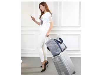 Túi vali du lịch tiện dụng (Sọc xanh).