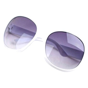 Cyber Retro Oversized Women Sunglasses (White)