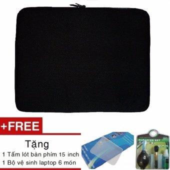 Túi chống sốc Laptop 15 inch tặng Bộ vệ sinh 6 món + Miếng lót bàn phím 15 inch