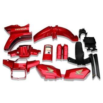Dàn áo nhựa ABS nguyên sinh xe Dream II màu Đỏ đun thương hiệu GTP