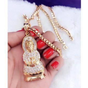 Dây Chuyền Xi Vàng 18k Phật Quan Âm Lớn Gadoshop (Dây Chuyền Xích)