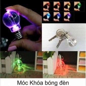 Bóng đèn móc khóa 7 màu không vỡ, không cần nguồn điện- Kingstore