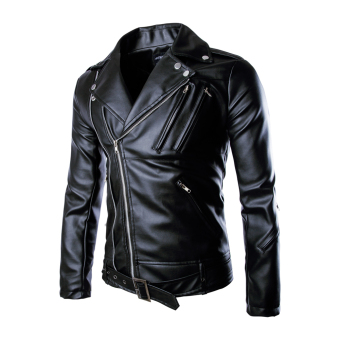 Men Motorcycle Racing PU Leather Jacket Armor Riding Clothing (Intl)