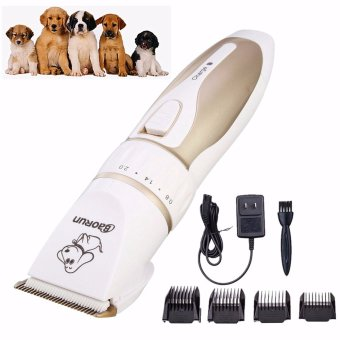 Electric Low-noise Animal Pet Dog Cat Hair Razor Grooming Trimmer Shaver Clipper - intl