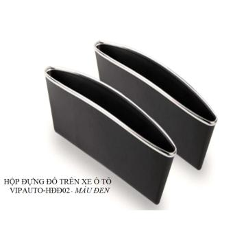 Bộ 2 hộp đựng đồ trên xe ô tô VIPauto-HĐĐ02 - Đen