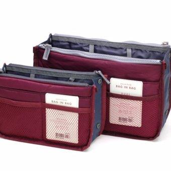Túi đồ dùng cá nhân & mỹ phẩm nhiều ngăn (đỏ)